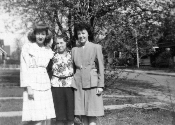 Group Photo– Left to right, Richard's sister Marguerite, mother Lucy and sister Marie.