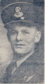 Newspaper clipping– Newspaper image of Pilot Officer William Alan Tees. Provided by Padre Phil Miller, RCL, Branch 25, Sault Ste. Marie, ON. We Will Remember Them.