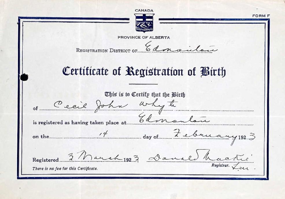 Certificat – Soumis dans le cadre du projet : Operation Picture Me