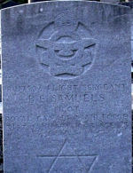 Grave Marker– Grave Marker of Bernard Edwin Samuels. Photo taken 24th October 2007.  My gratitude to a member of staff of Robert Hart Memorials of Newtonabbey, Co. Antrim for allowing me access to the cemetery.