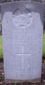 Grave Marker– Grave marker of Stanley David Gaudin. Photo dated 24th June 2007.