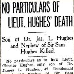 Press Clipping– From the Toronto Star for 17 November 1915.