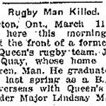Newspaper Clipping– Clipping from the Toronto Star for 11 March 1916, page 6.