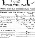 Attestation Papers– Attestation paper, page 1 for James Leonard McQuay.