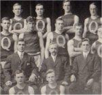 Team photo– James Leonard McQuay, intercollegiate team, Queen's University, 1912.