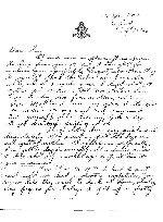 Letter from Emile Regis to home (page 1)– Emile Regis' last letter home before being shot down over the English Channel.