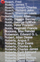 Memorial– Pilot Officer Fred Roach is also commemorated on the Bomber Command Memorial Wall in Nanton, AB … photo courtesy of Marg Liessens