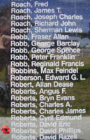 Memorial– Flight Sergeant David Phillips Roberts is also commemorated on the Bomber Command Memorial Wall in Nanton, AB … photo courtesy of Marg Liessens