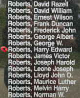 Memorial– Flight Sergeant Harry Edward Roberts is also commemorated on the Bomber Command Memorial Wall in Nanton, AB … photo courtesy of Marg Liessens
