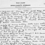 War Diary– 6th Brigade, Canadian Field Artillery. War Diary for September 1916, page 14 recording death of Proctor, L.W. (Source National Archives of Canada)
