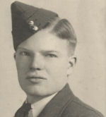 Photo of George Robson– George Erwin Robson, member of Wellington Z1623 squadron took off October 5, 1942 from Croft for a raid on Aachen and was lost without a trace. Severe icing had been reported by other aircraft returning from the raid. George is remembered by his sister, Muriel, who shares her stories of her brother with the rest of the family.