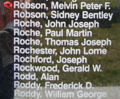 Memorial– Flight Sergeant Melvin Peter Frederick Robson is also commemorated on the Bomber Command Memorial Wall in Nanton, AB … photo courtesy of Marg Liessens