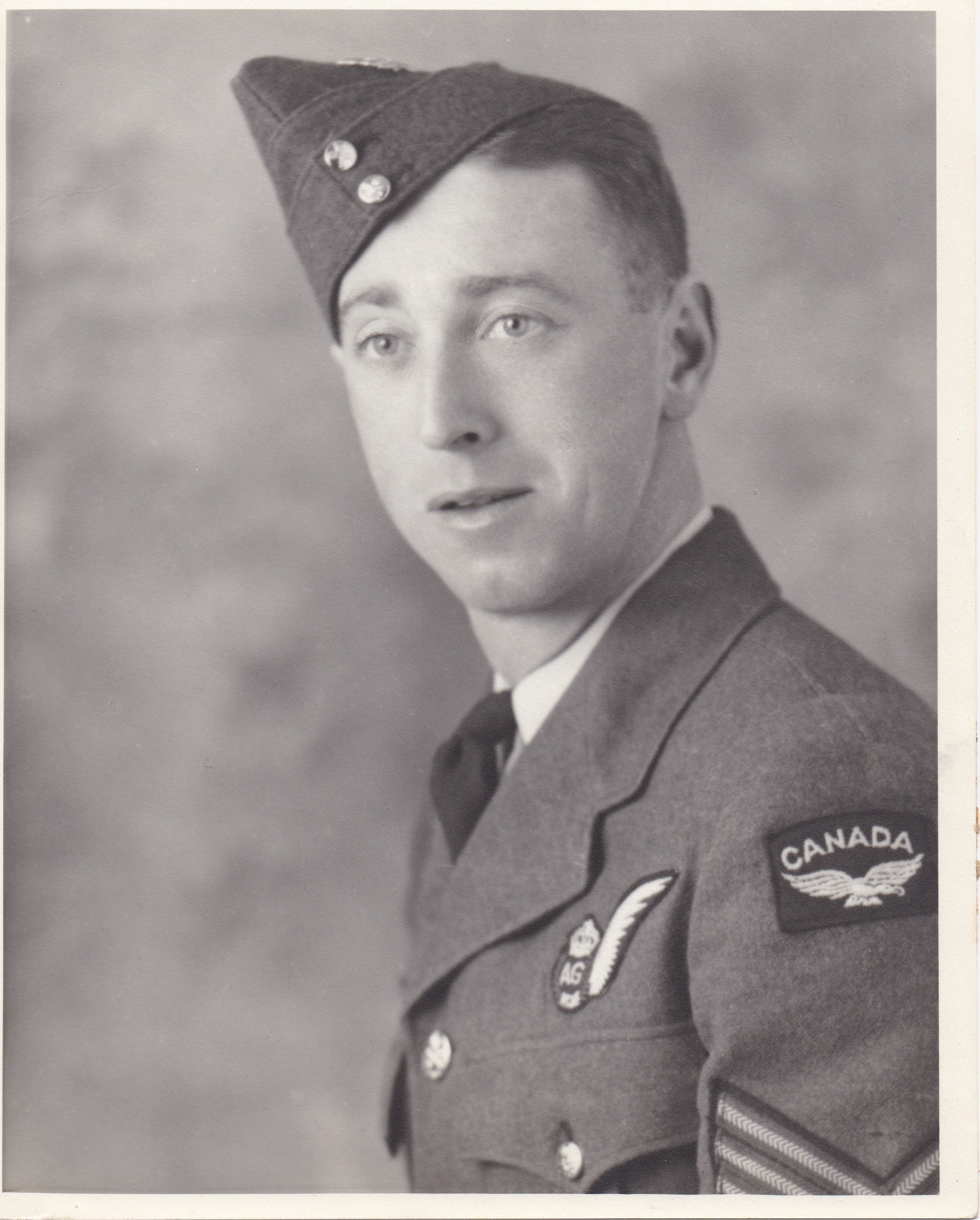 Photo of ALBERT EDWARD RODEN– This is a scan of my Great Uncle Albert's RCAF picture.  It was given to me my Grandmother Florence Lillian (Roden) Roberts (Frey).