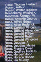 Memorial– Pilot Officer Herbert John Ross is also commemorated on the Bomber Command Memorial Wall in Nanton, AB … photo courtesy of Marg Liessens