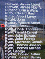 Memorial– Flight Sergeant Frank Ruzycki is also commemorated on the Bomber Command Memorial Wall in Nanton, AB … photo courtesy of Marg Liessens