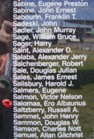 Memorial– Flying Officer Ero Albaunus Salomaa is also commemorated on the Bomber Command Memorial Wall in Nanton, AB … photo courtesy of Marg Liessens