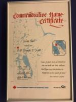 Certificat – Certificat commémoratif: Scott Hill nommé en l'honneur de George Edward Scott