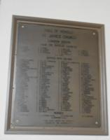 Memorial– Aitken is remembered on a plaque in St. James Westminster Anglican Church in London, Ontario