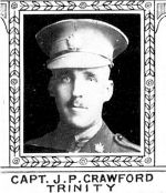Photo of James Crawford– From: The Varsity Magazine Supplement Fourth Edition 1918 published by The Students Administrative Council, University of Toronto.   Submitted for the Soldiers' Tower Committee, University of Toronto, by Operation Picture Me.