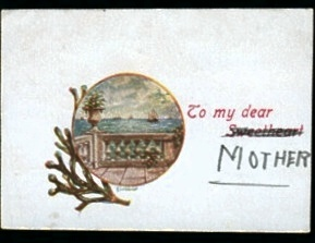 Message inside the Postcard