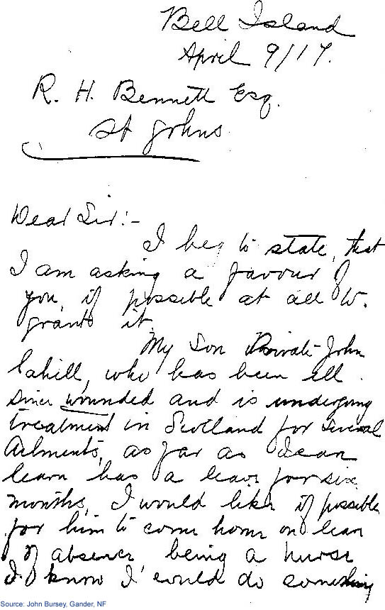 Letter to R.H. Bennett - page 1
