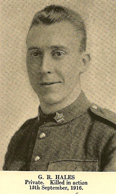 Photo of George Reid Hales– In memory of the employees from the Canadian Bank Of Commerce (CIBC) who went to war and did not return. Submitted for the project, Operation: Picture Me