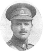 Photo of Auguste Raoul Darche– Captain Auguste Raoul Darche, killed in action on May 28, 1915 (from 1915 London magazine).
