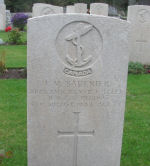 Grave Marker– Picture of his grave. It was taken by John Hawley who visited the cemetery. John's father was a sailor aboard HMCS Regina. His father survived the sinking. John wants to share this picture with relatives of this sailor. He sent it to me and asked to post it on this site.