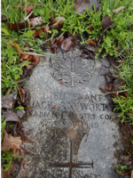 Grave marker– Photo by Pat Redmond. Submitted for the project, Operation Picture Me