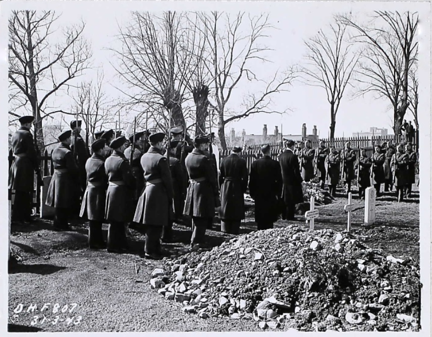 Firing Party Presenting Arms - March 31, 1943