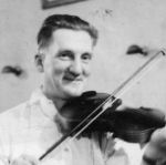 Photo of Elroy Buchanan– Elroy enjoyed playing his fiddle at the community dances.
