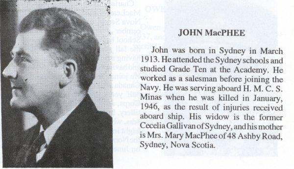 Photo of John Joseph McPhee