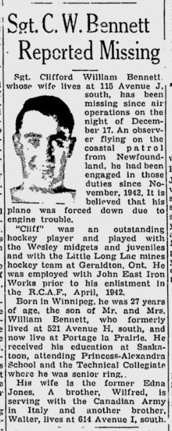Newspaper Clipping– From the Saskatoon Star-Phoenix. Submitted for the project, Operation: Picture Me