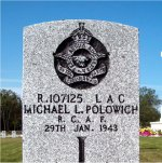 Grave Marker– Photo Courtesy of Gander War Cemetery: A Digital exhibit sponsored by Canada's Digital Collections.