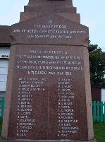 Plaque– A closer view of a plaque on the monument in Bonavista where Cyril Hicks is commemorated.