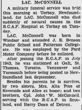 Newspaper clipping– From the Windsor Daily Star. Submitted for the project, Operation: Picture Me