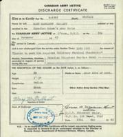 Discharge Certificate.