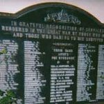 Memorial Plaque– Walter Gatenby's name is inscribed on this Memorial Plaque.