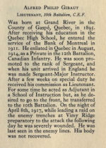 Biography– From Memorial of the Great War, 1914-1918 published by the Bank of Montreal 1921.