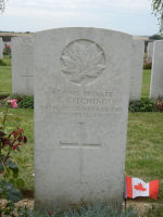 Grave Marker– Picture from this summer when I visited CANADIAN CEMETERY No. 2