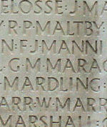 Inscription– His name as it is inscribed on the Vimy Memorial (2010). Over 11,000 fallen Canadians having no known place of burial in France, are honoured on this Memorial. May they never be forgotten. He was later found and now resides in Canadian Cemetery No.2 (J. Stephens)