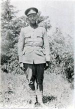 Photo of James Minorgan– James Minorgan in military uniform (photo held at the Sundridge-Strong Union Library, Sundridge, ON -  (Note: copyright has expired according to Cdn law)