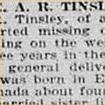 Press Clipping– source: Morning Bulletin (Edmonton); May 7, 1917, page 2