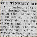 Press Clipping– source: Morning Bulletin (Edmonton); May 5, 1917, page 3