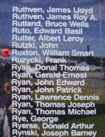 Memorial– Flying Officer William Smart Ruxton is also commemorated on the Bomber Command Memorial Wall in Nanton, AB … photo courtesy of Marg Liessens