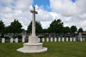 Cross of Sacrifice– Blankenberge Town Cemetery - May 2019 … photo courtesy of Marg Liessens