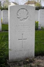 Grave Marker– Grave of L. Cpl. Reginald Daniel Dominc at the Nederweert War Cemetery in the Netherlands.