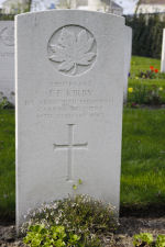 Grave Marker– Grave of Lieutenant Frank Frederick Kirby at the Nederweert War Cemetery in the Netherlands.