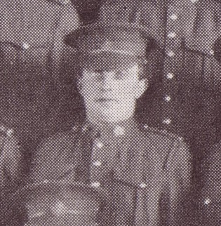 Photo of ALLAN GRAY– Allan Gray, 700390, 6th Platoon, B Company, 101st Battalion, photo taken March 1916