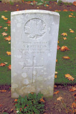 Grave Marker– The grave marker at the Thelus Military Cemetery located at the foot of Vimy Ridge, just outside of Thelus, France. May he rest in peace. (J. Stephens 2010)
